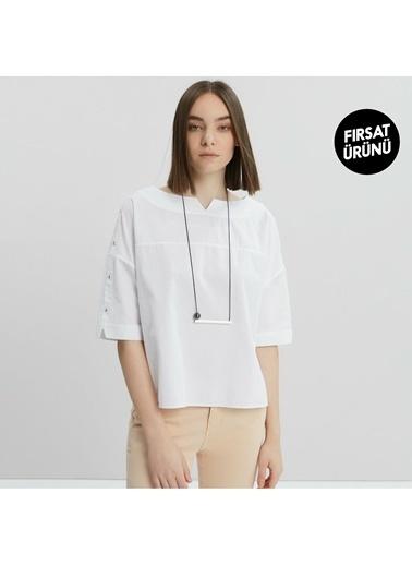 Yargıcı Bluz Beyaz